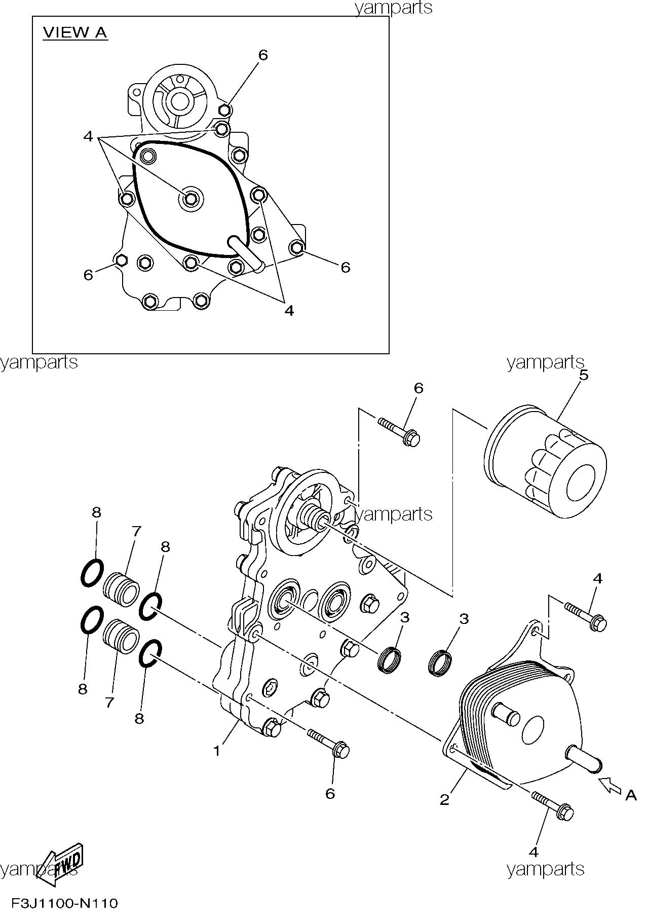 Масляные холодильник и фильтр