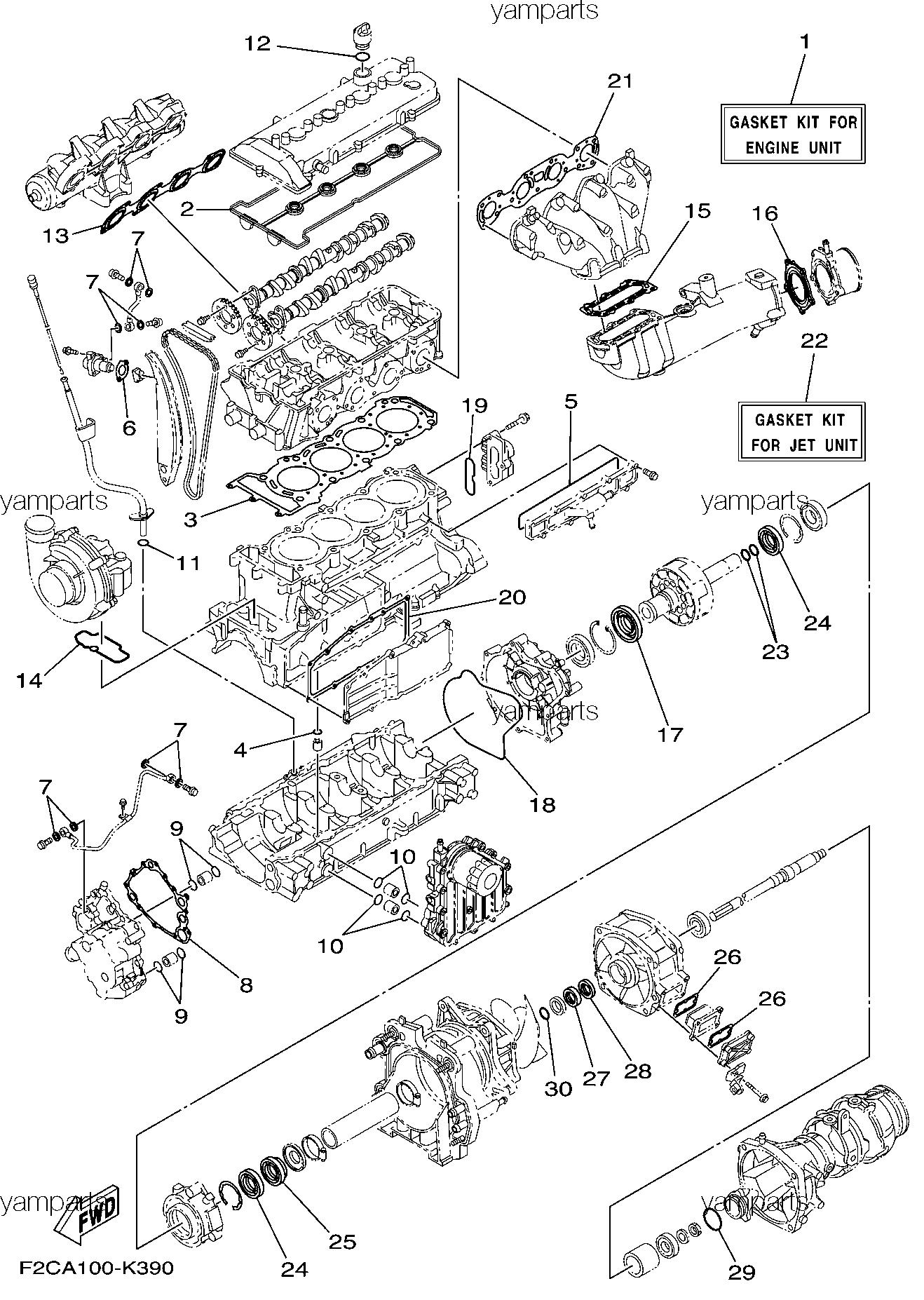Ремкомплекты мотора и водомета