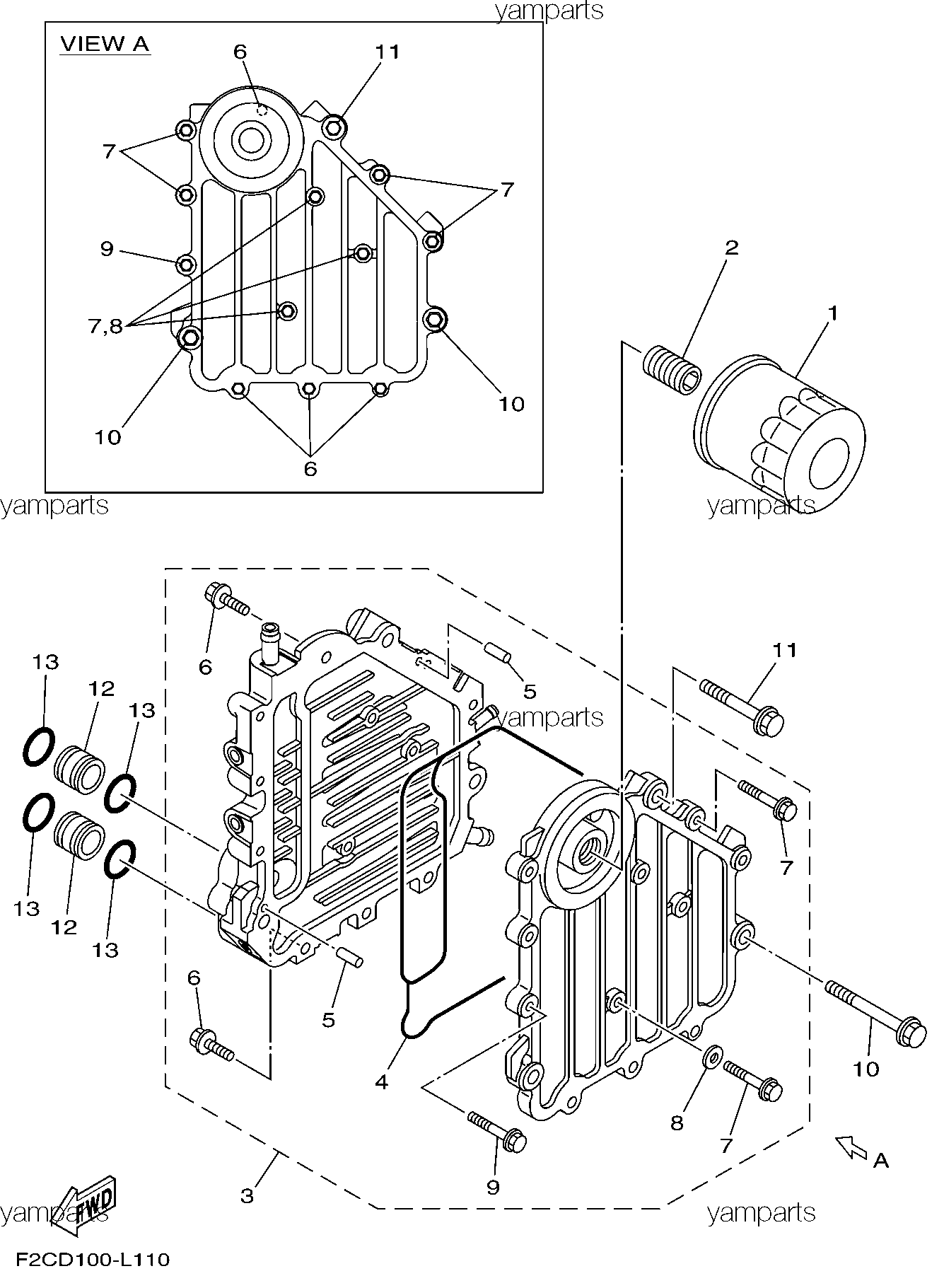 Охладитель масла, фильтр