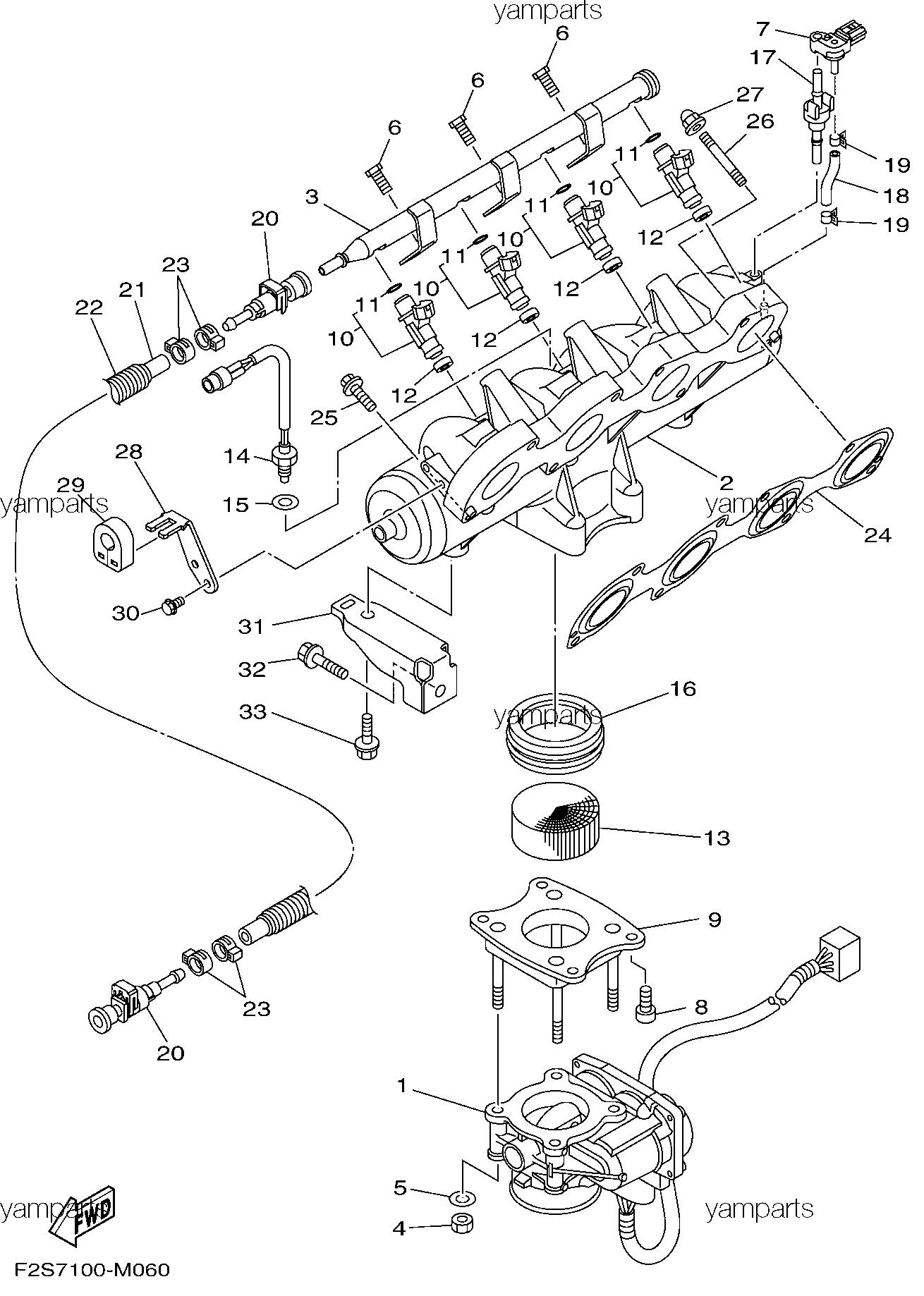 Заслонка, инжектора