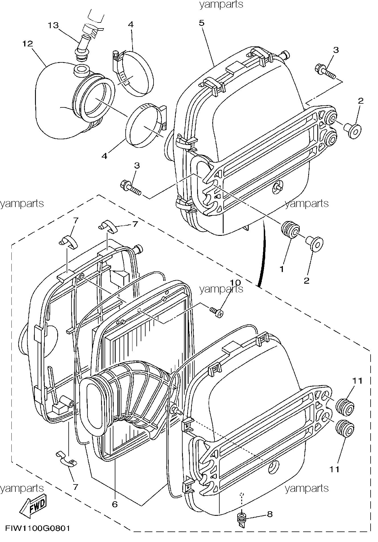 Детали впуска (фильтр)