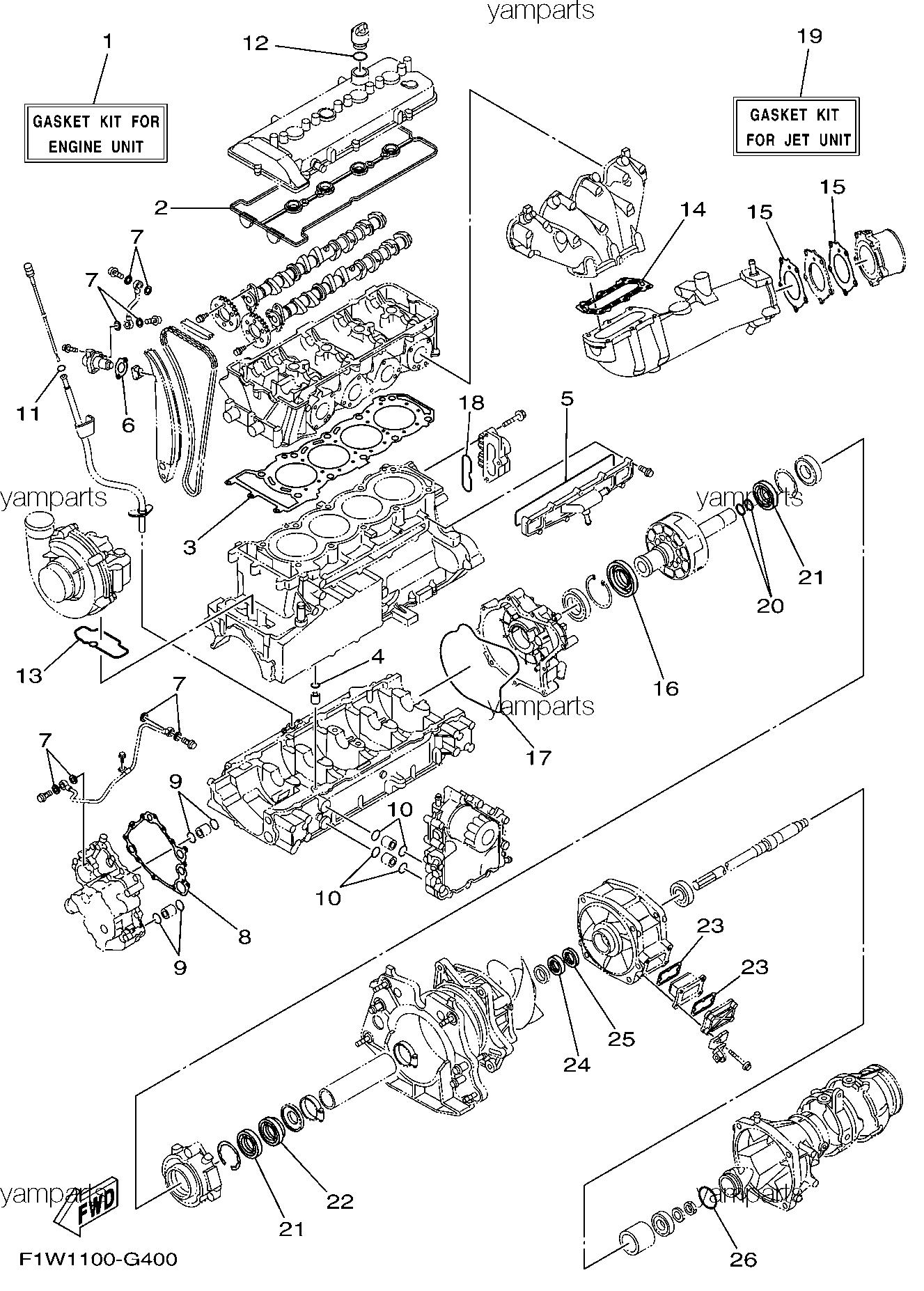 Ремкомплекты мотора и водомёта