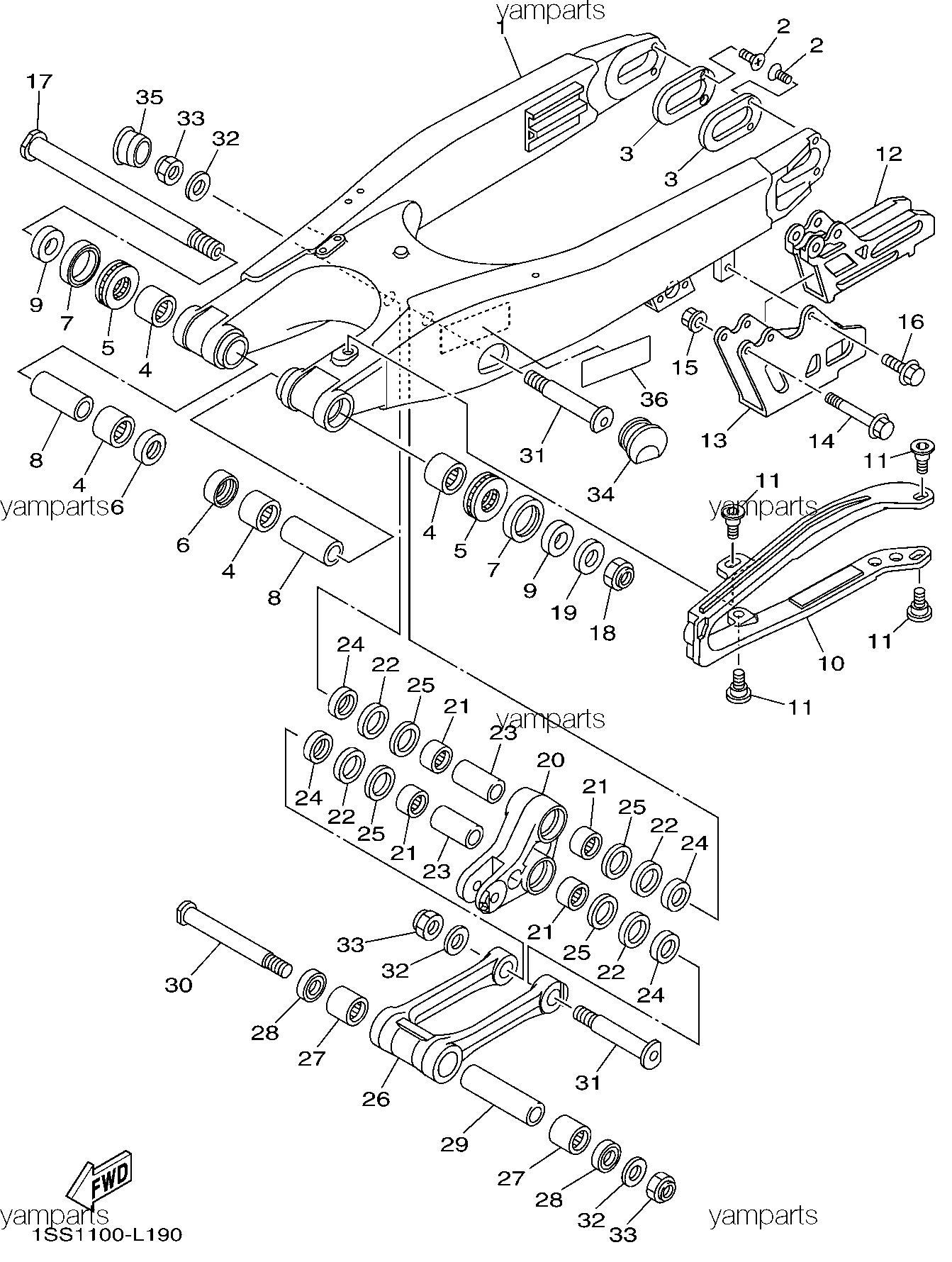 Подвеска задняя