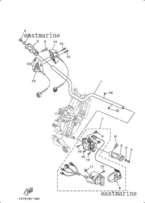 Детали электрические на руле