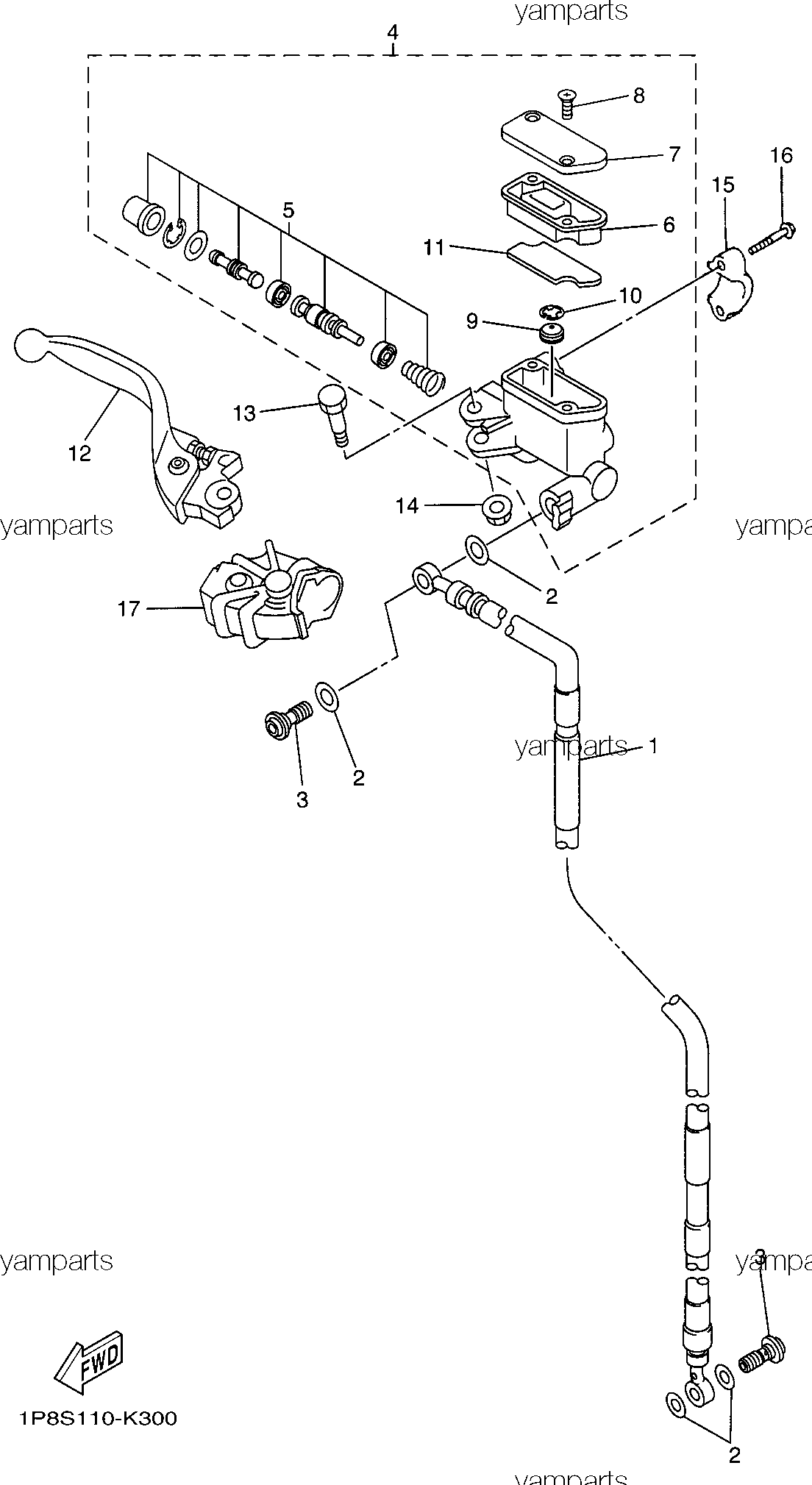 Детали передней тормозной системы