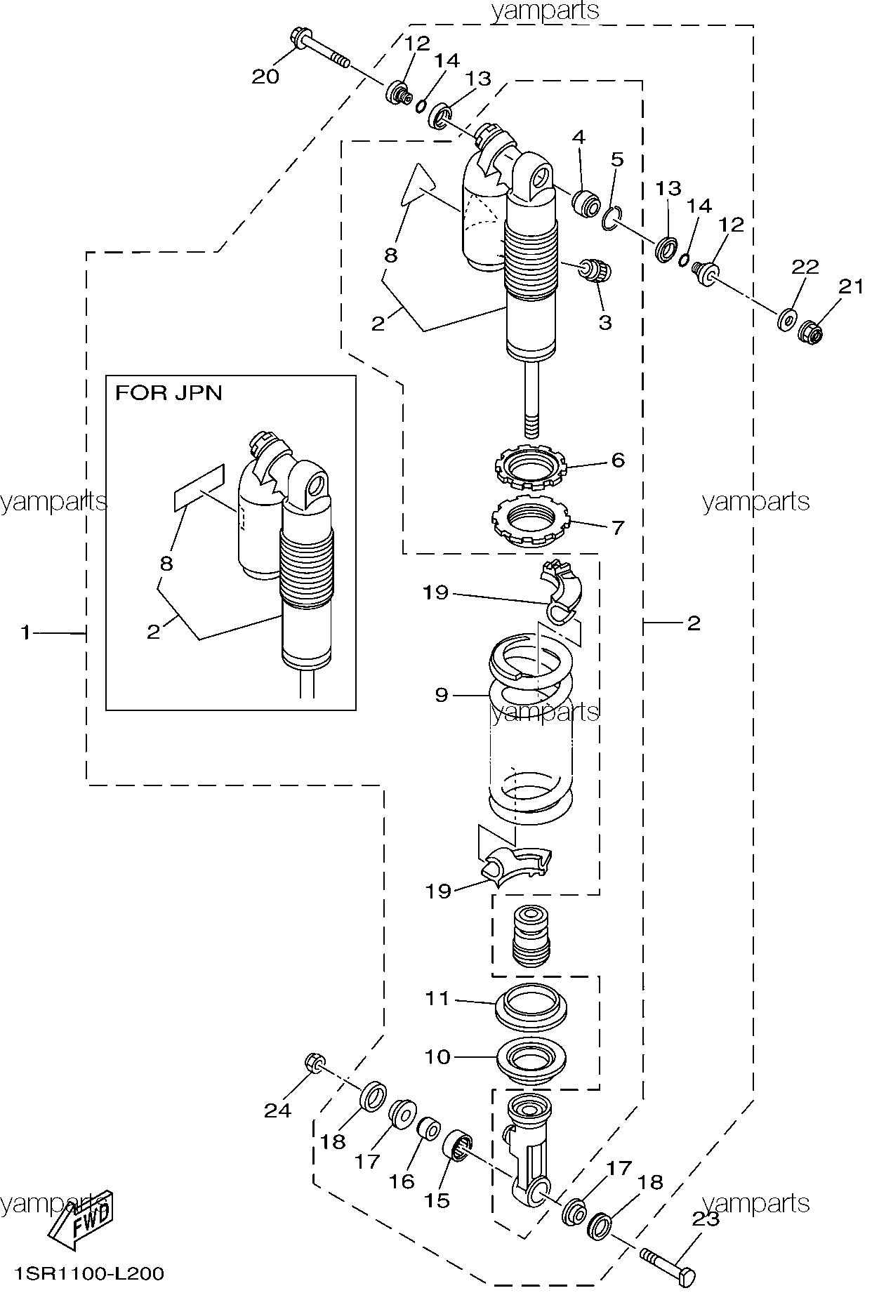 Амортизатор с пружиной